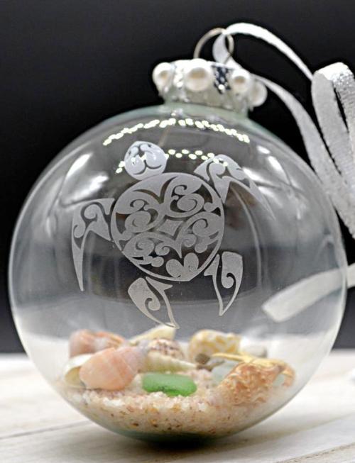 Handmade Pair of Seashells Ornaments   2.5 Orbs Beach Wedding Table D\u00e9cor Beach Decor with Czech Glass Pearls