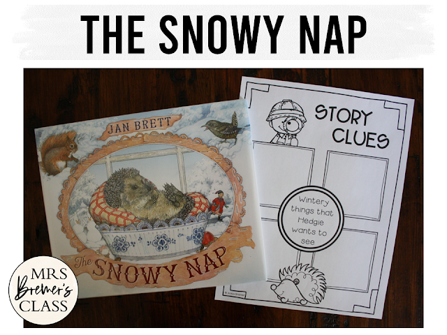 The Snowy Nap book study winter literacy unit with Common Core aligned companion activities and a craftivity for K-1