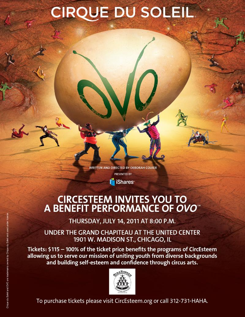 624fee5ad It's not too late to support a great organization and see a fantastic  Cirque du Soleil show! If you haven't purchased your tickets for Ovo on  July 14th ...