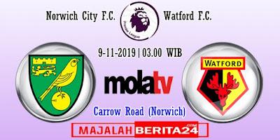Prediksi Norwich City vs Watford — 9 November 2019