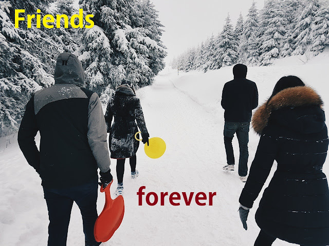 friends forever whatsapp dp of friends at snow