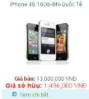 Tra gop Iphone 4s 16GB