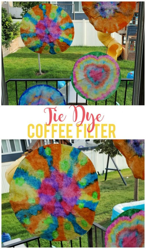 tie dye coffee filters