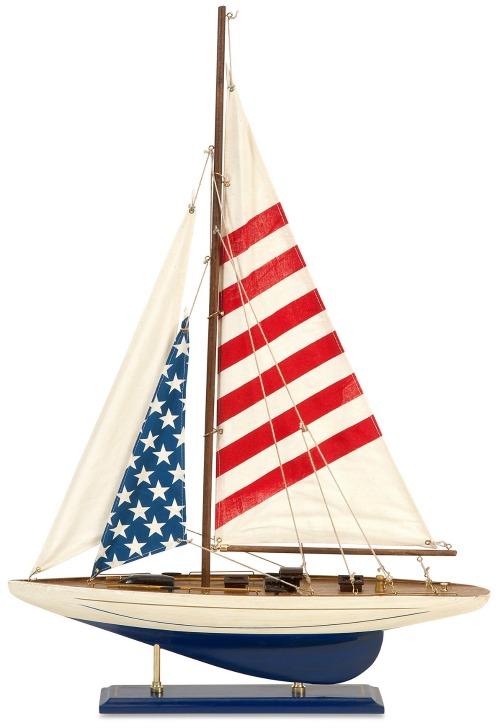 Americana Usa Flag Decor With A Nautical Amp Coastal Theme