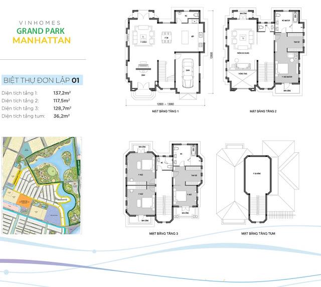 thiết kế biệt thự đơn lập Manhattan