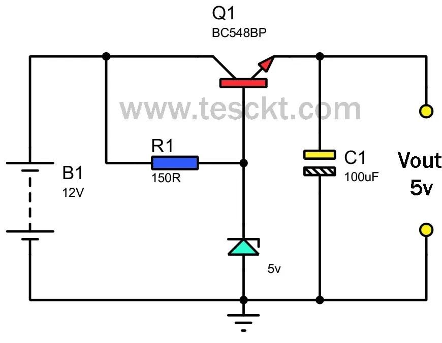 5v to 12v converter using transistor