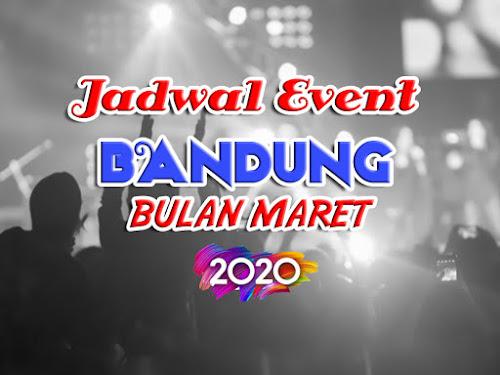 jadwal event bandung maret 2020