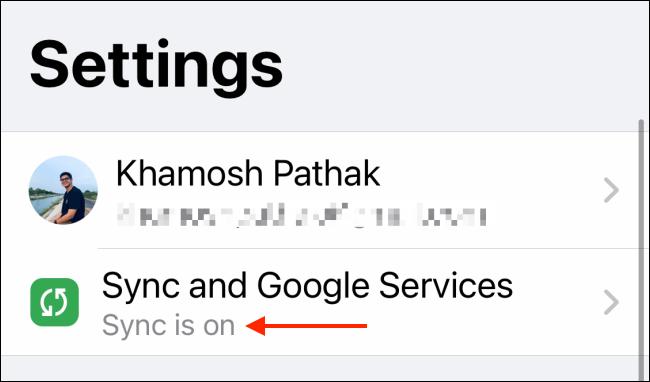 اجعل Sure Sync قيد التشغيل لـ Chrome على iPhone و iPad