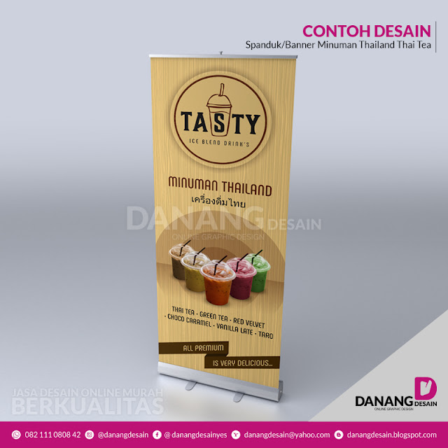 Contoh Desain Spanduk Banner Minuman Thailand/Thai Tea ...