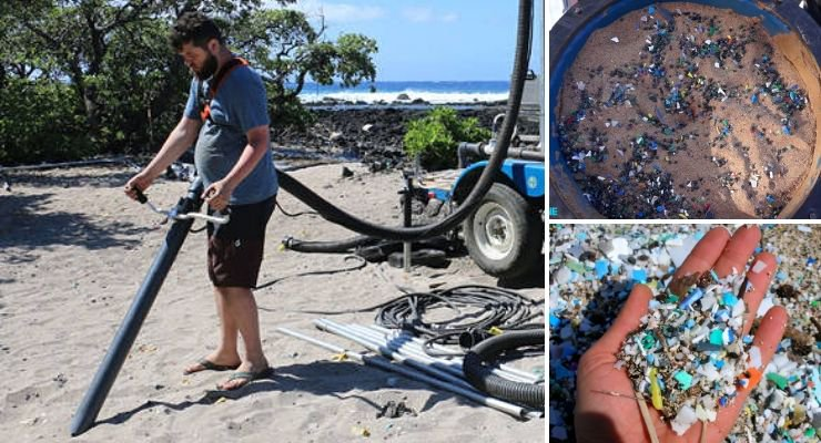 Students In Hawaii Built A Vacuum Cleaner That Sucks Up Microplastics From Sand