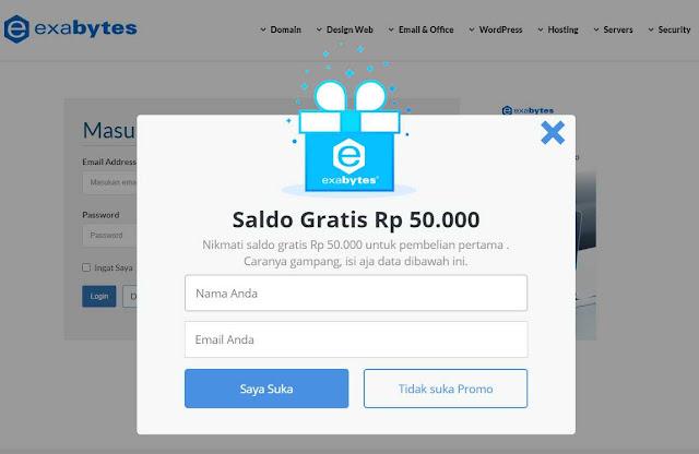 Saldo Gratis Dari Exabytes Indonesia