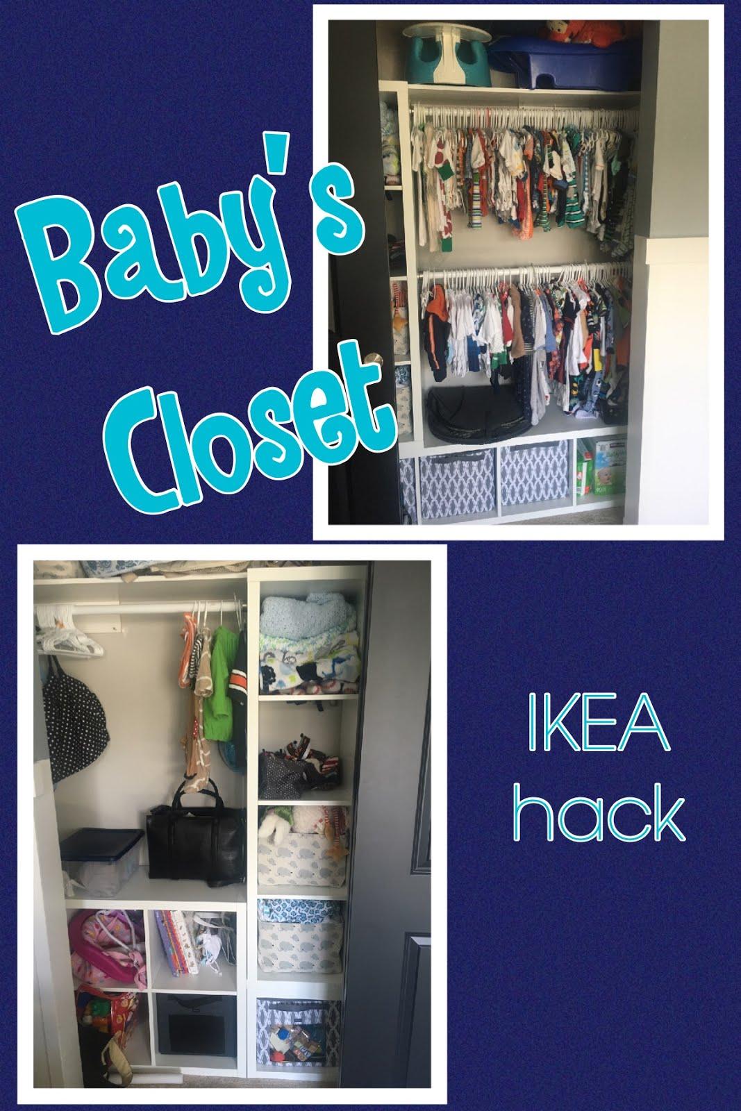 S S Adventures Organized Baby Closet Ikea Hack