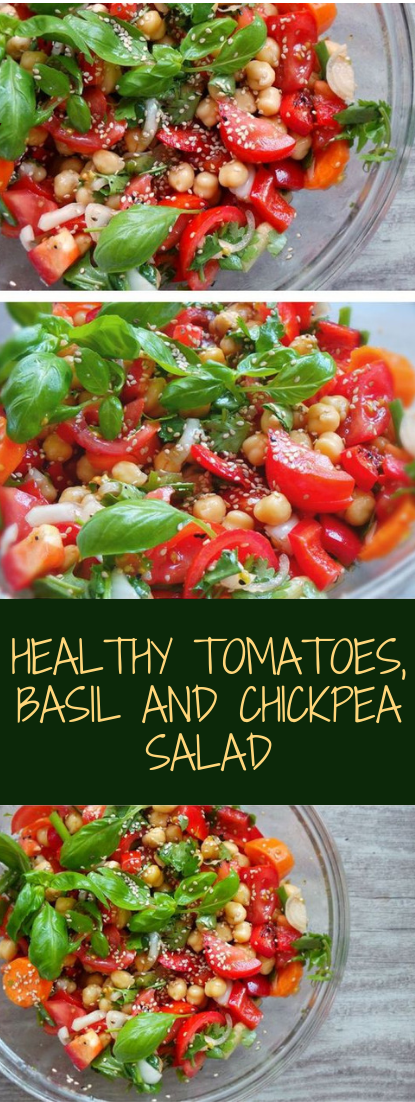 HEALTHY TOMATOES, BASIL AND CHICKPEA #healthy #recipe