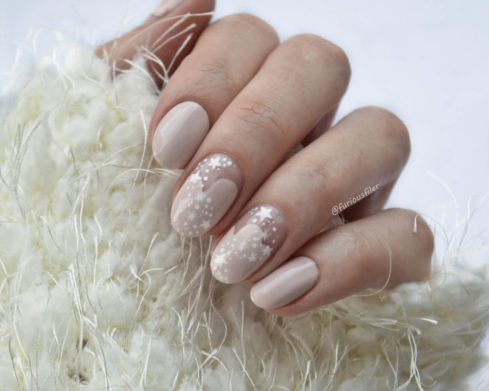 winter frozen nail art snowflake stars furious filer