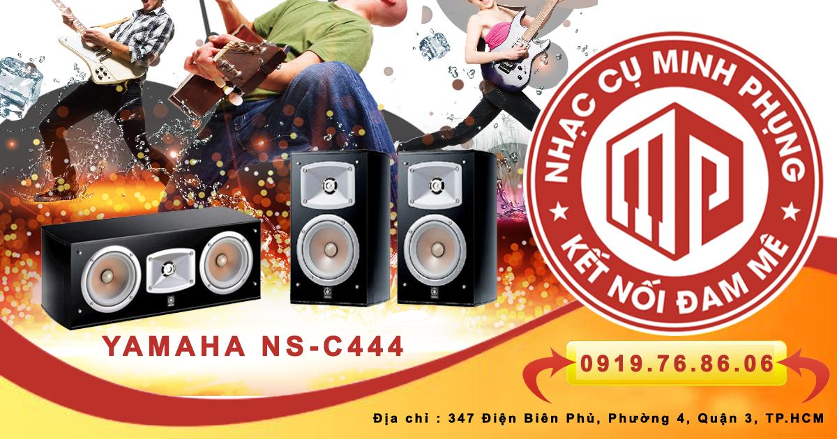 Hệ thống Loa Center Yamaha NS C444 Black được sử dụng dây loa Monster