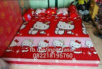 Sofa bed Inoac motif Hello Kitty merah inoactasik