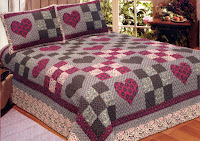 Primitive Hearts Quilt Set
