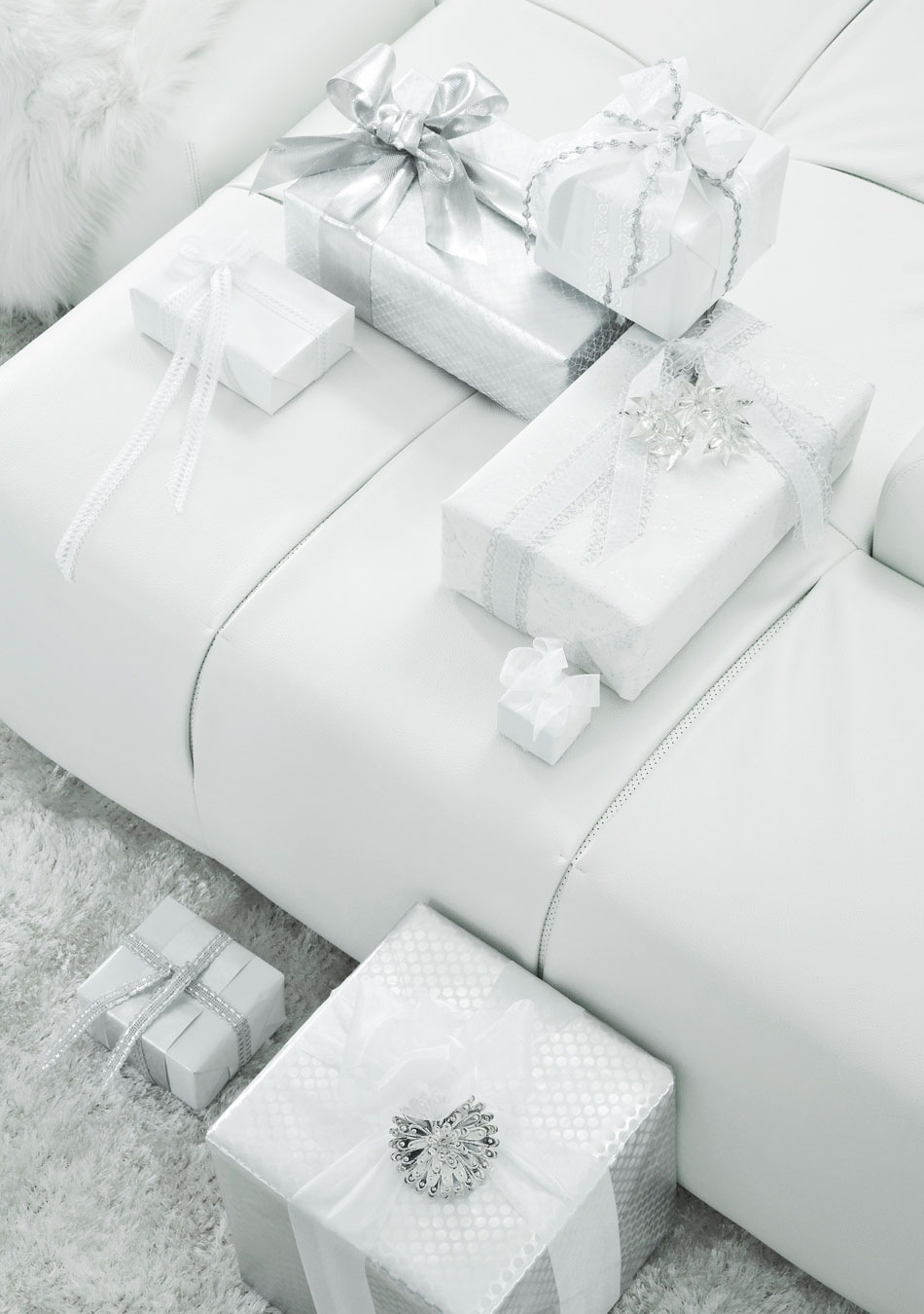 All White Modern Decor