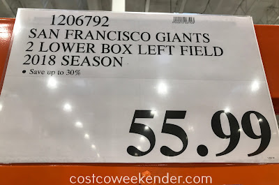 Deal for 2 lower box left field San Francisco Giants tickets for $59.99 at Costco