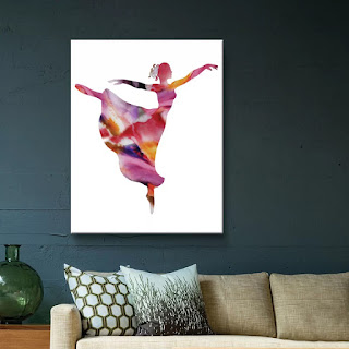 Watercolour Ballerina Silhouette by artist illustrator Irina Sztukowski
