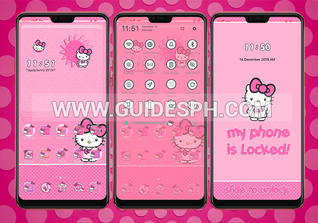 Oppo Theme: Hello Kitty Big Bow 2 Theme