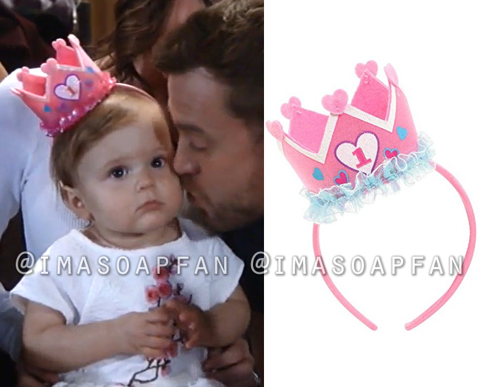 Scout Cain, Poe and Palmer Parker, 1st Birthday Crown Headband, General Hospital, GH
