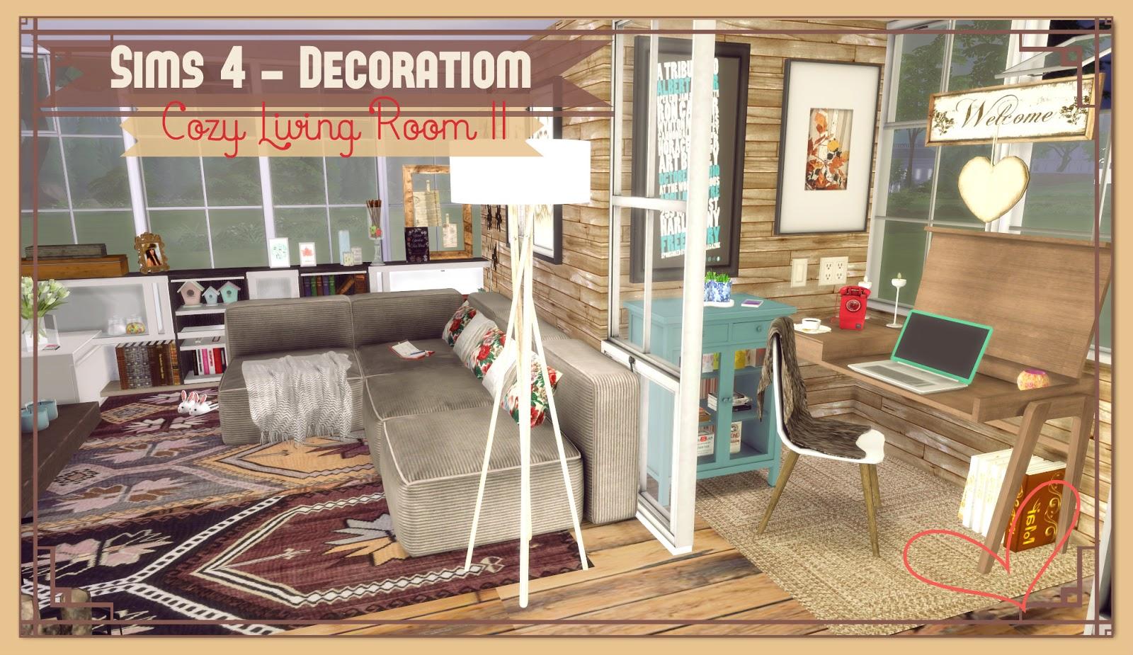 Sims 4 Cozy Living Room Ii Dinha