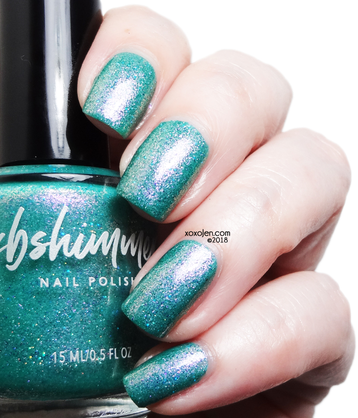 xoxoJen's swatch of kbshimmer Teal Another Tail (2013)