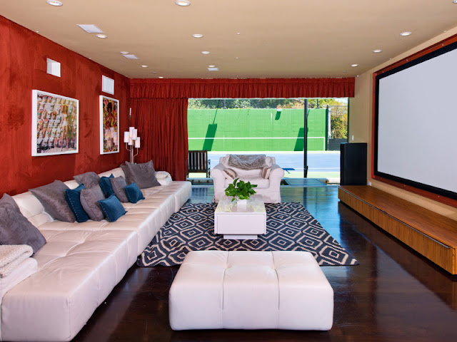 Photo of modern home theater in an amazing home in Bel Air
