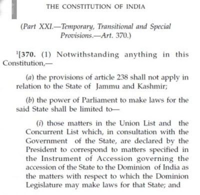 What is article 370? five key points-Newstracker