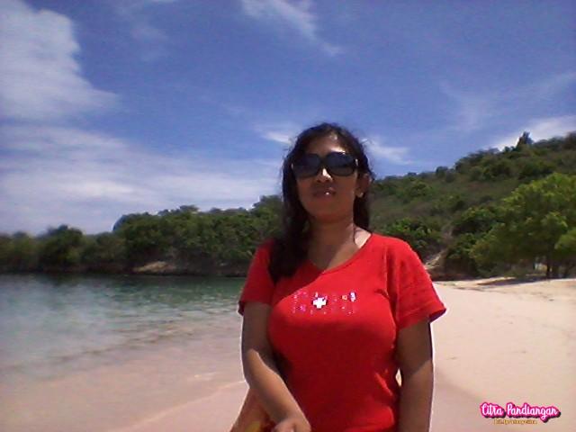 cara menuju pantai pink beach