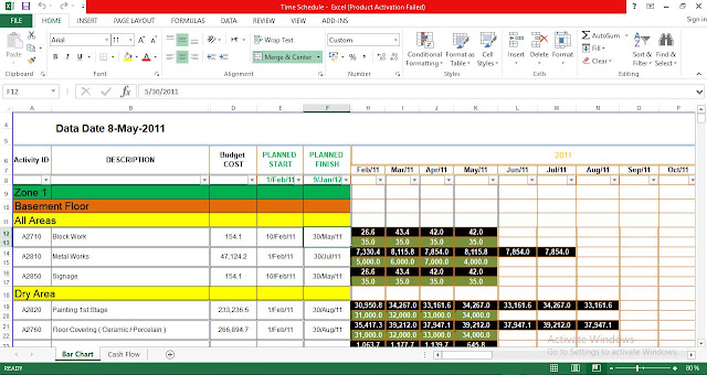 Time schedule Excel Template Free Download