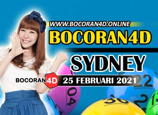 Bocoran Togel 4D Sydney 25 Februari 2021