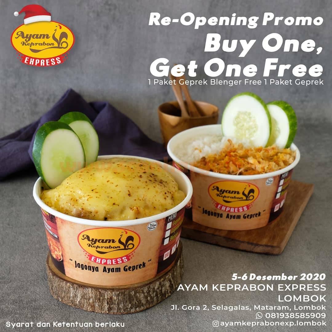 Ayam Keprabon Lombok Re-Opening Promo Beli 1 Gratis 1