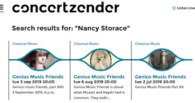 Concertzender - Nancy Storace - Mozart Haydn Salieri