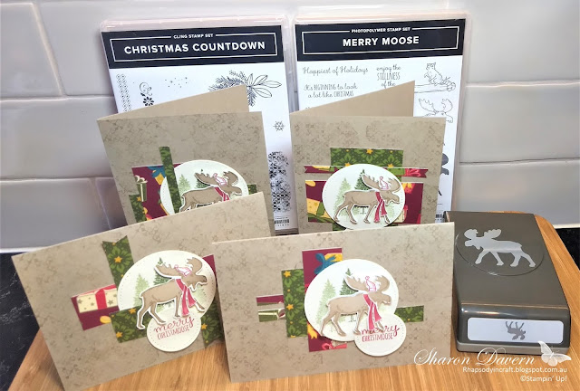 Merry Moose, Christmas Countdown, Night Before Christmas DSP, One Sheet Wonder 6x6, Christmas cards, Rhapsody in Craft, Art with heart
