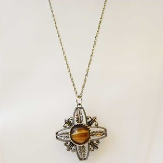 Art Glass cross pendant necklace by Exquisite