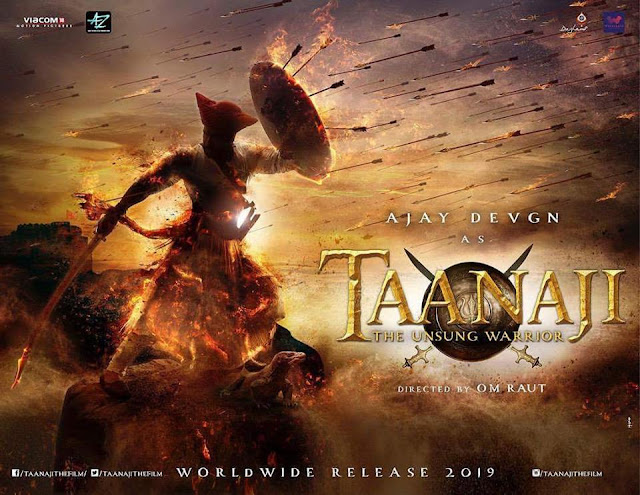 Taanaji 2019 - Ajay Devgn  Movie Poster, First look, Teaser, Trailer. Images, MP3, MP4