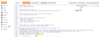 Blogger main page navigation