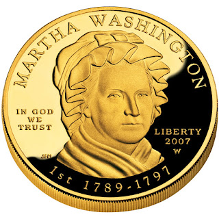 US Gold Coins Martha Washington First Spouse 10 Dollars Gold Coin