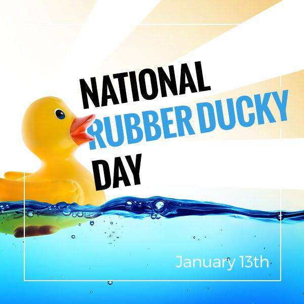 National Rubber Ducky Day Wishes Beautiful Image