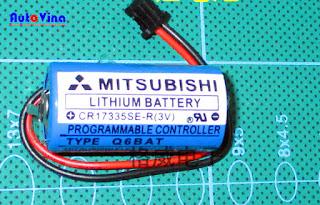 Đại lý bán battery Pin PLC Mitsubishi CR17335SE-R(3V) dòng cho PLC hãng Mitsubishi