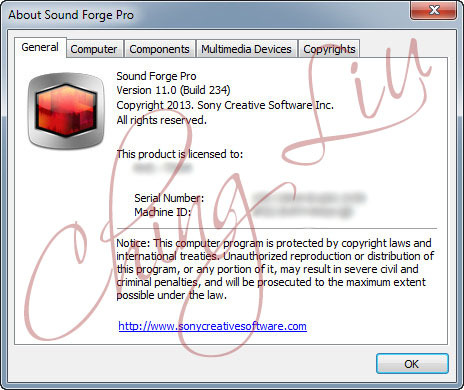 Sound Forge 70 all versions serial number and keygen
