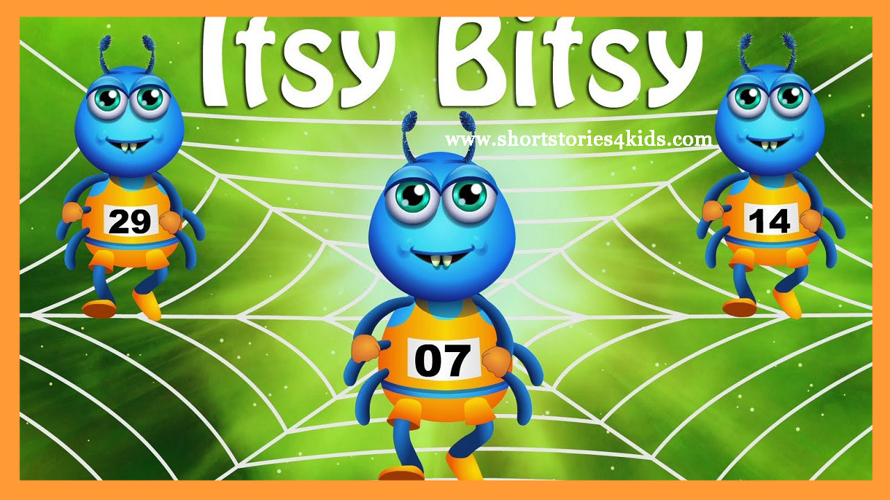 Itsy Bitsy Spider Went Up The Water Spout Down Came Rain And Washed Out Sun Dried All So