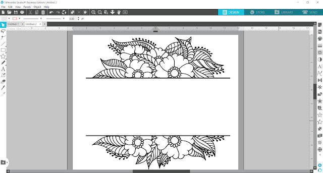 split monogram, monogram, custom designs, silhouette studio v4, cameo 4