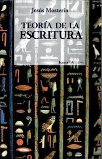Teoría de la escritura / Jesús Mosterín