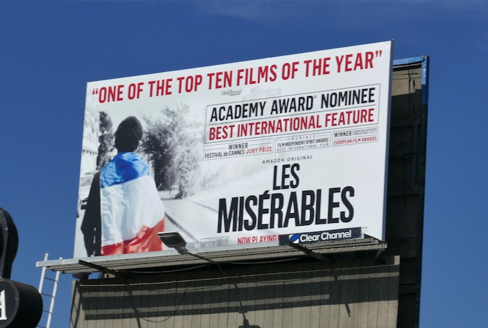 Les Misérables 2020 Oscar billboard