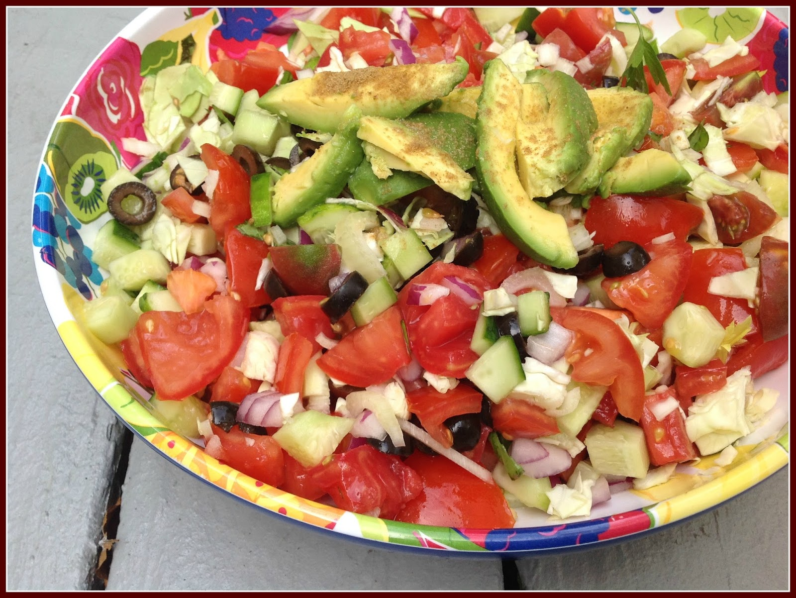 Gluten Free A-Z Easy Summer Salad with Colors of the Rainbow