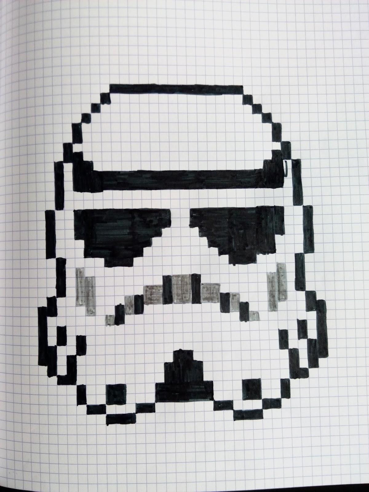 Qixels art 73 pixels stormtrooper - Dessin facile star wars ...