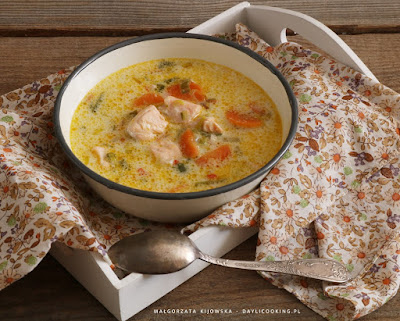 przepis na zupę rybną, jak zrobić zupę z łososia